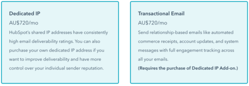HubSpot Transactional email cost